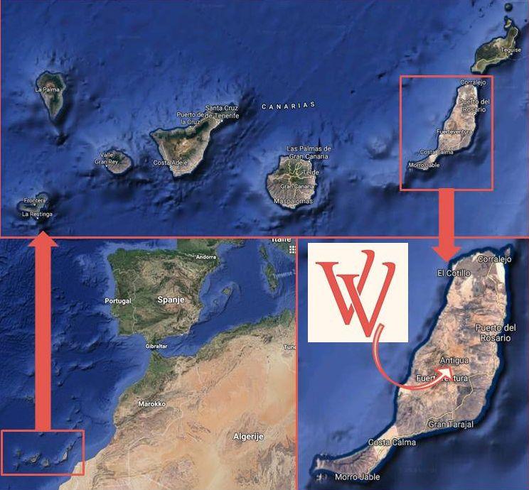 Locatie Villa Vital op Fuerteventura