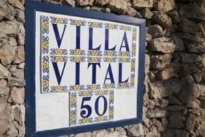 VillaVital naambordje