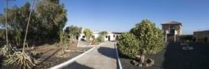 VillaVital tuin garden panorama